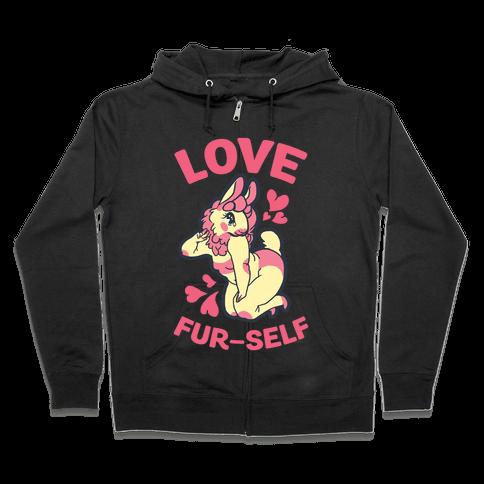 Love Fur-self Zip Hoodie