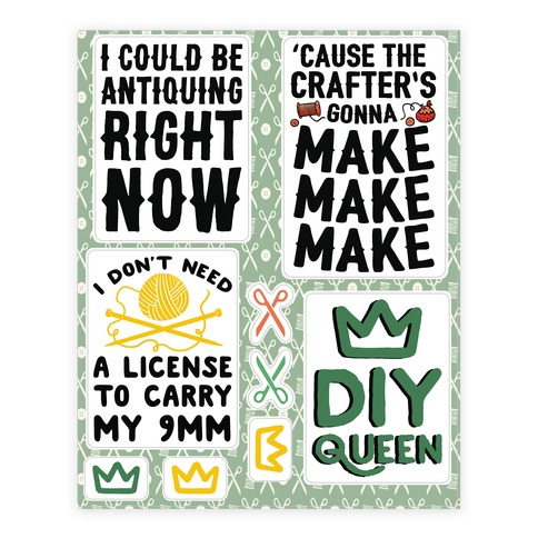 Crafting Sticker/Decal Sheet
