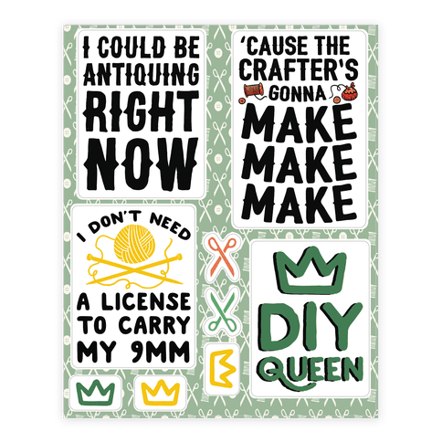 Crafting Sticker and Decal Sheet