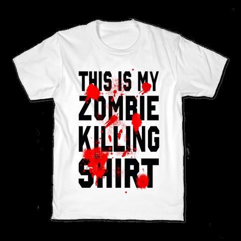 This is My Zombie Killing Shirt Kids T-Shirt