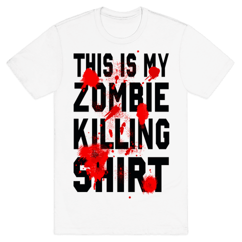 This is My Zombie Killing Shirt Mens T-Shirt
