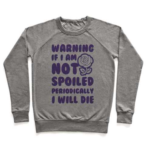 Warning If I Am Not Spoiled Periodically I Will Die Pullover