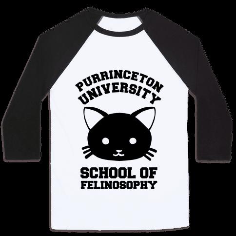 Purrinceton University School Of Felinosophy Baseball Tee