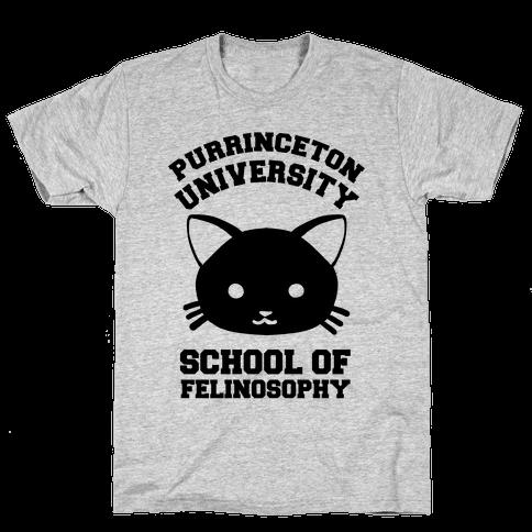 Purrinceton University School Of Felinosophy Mens T-Shirt
