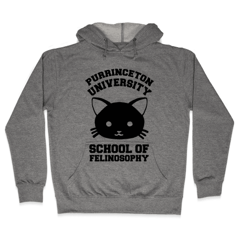 Purrinceton University School Of Felinosophy Hooded Sweatshirt