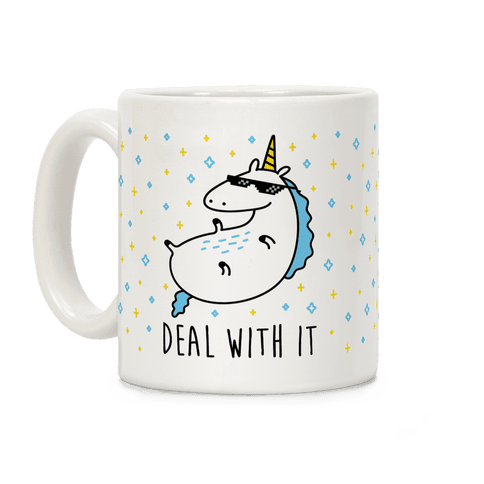 Deal With It Unicorn Coffee Mug