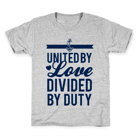 United By Love, Divided By Duty (Navy) Kids T-Shirt