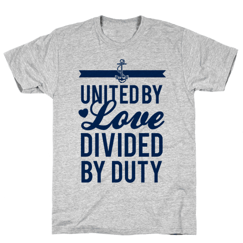 United By Love, Divided By Duty (Navy) Mens T-Shirt