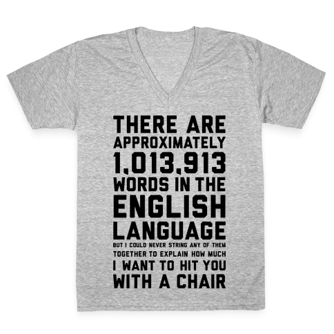 Hit You With A Chair V-Neck Tee Shirt