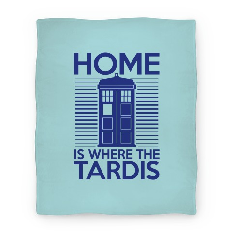 Home Is Where The Tardis Blanket