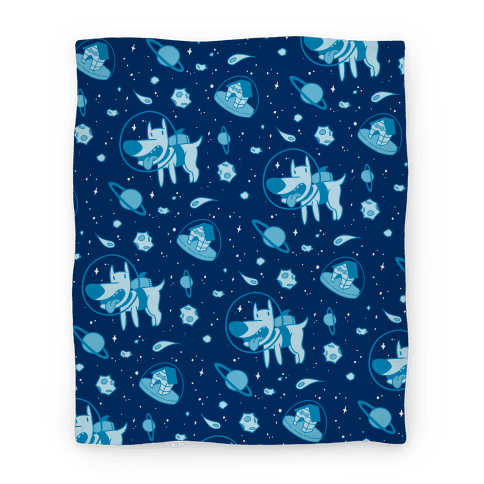 Blast Off Space Dog Blanket