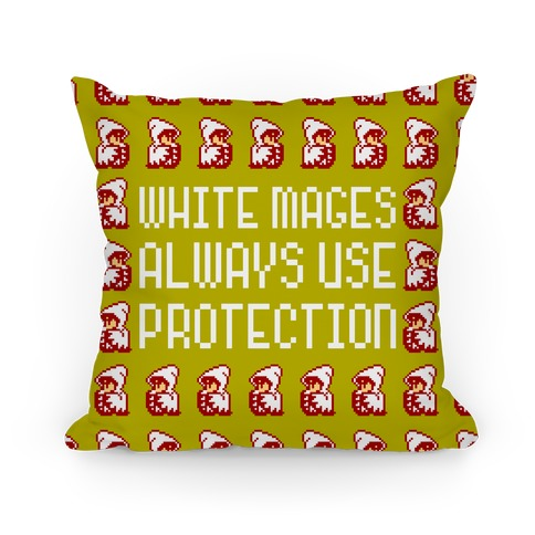 White Mages Always Use Protection Pillow