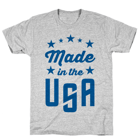 Made in the USA (Blue) Mens T-Shirt