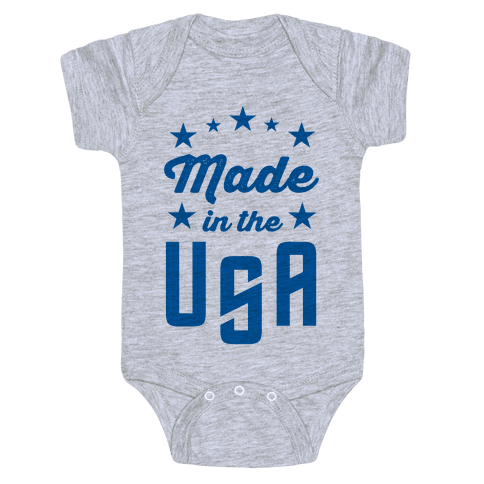 Made in the USA (Blue) Baby Onesy