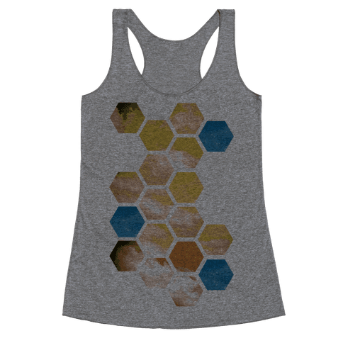 Cloud Collage Racerback Tank Top