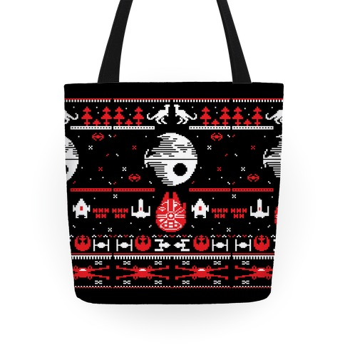 Scifi Spaceship Christmas Tote