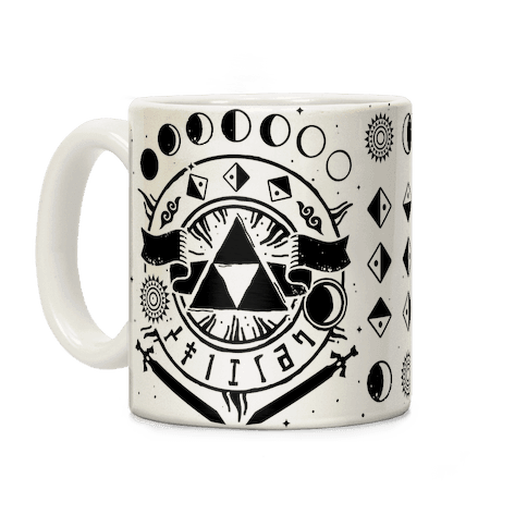 Hyrule Occult Symbols Coffee Mug
