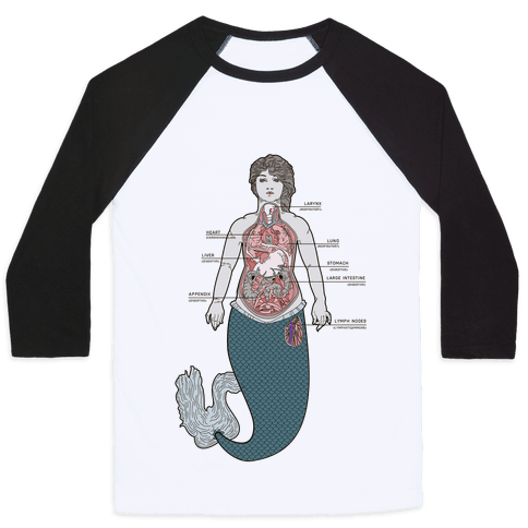 Mermaid Autopsy Baseball Tee