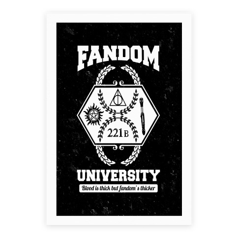 Fandom University Poster