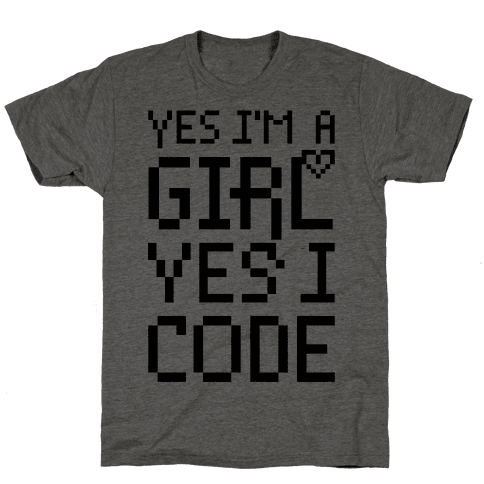 Yes I'm A Girl Yes I Code Mens T-Shirt