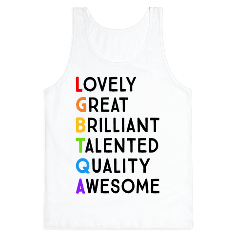 LGBTQA Meanings Tank Top