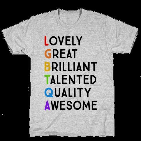 LGBTQA Meanings Mens T-Shirt