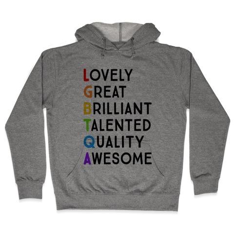 LGBTQA Meanings Hooded Sweatshirt