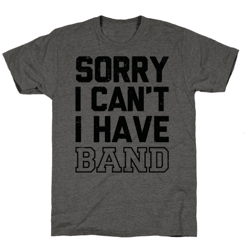 Sorry I Can't I have Band