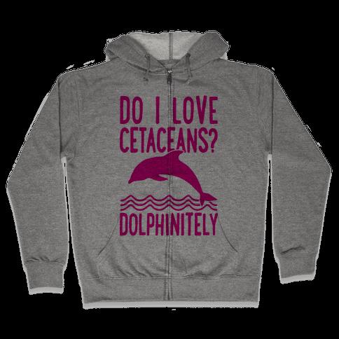 Dolphinitely Zip Hoodie
