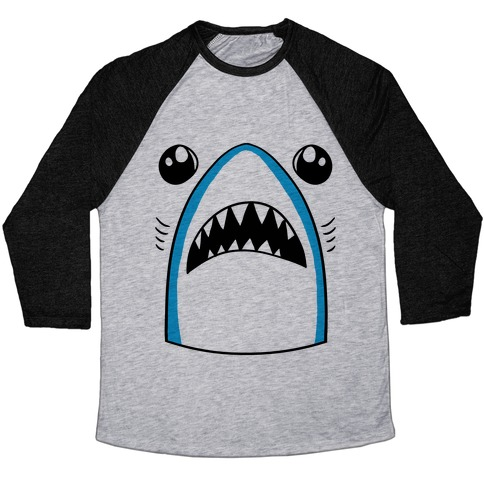 Left Shark Face Baseball Tee