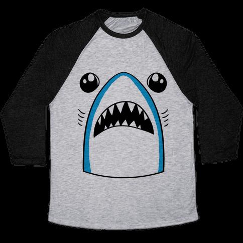 Left Shark Face Baseball Tee