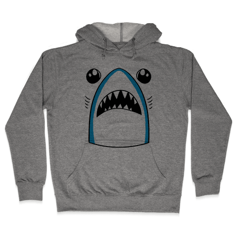 Left Shark Face Hooded Sweatshirt