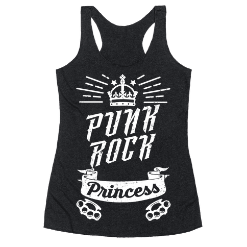 Punk Rock Princess Racerback Tank Top