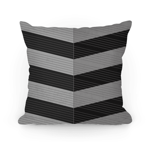 Stripes on Stripes Pattern (Black) Pillow
