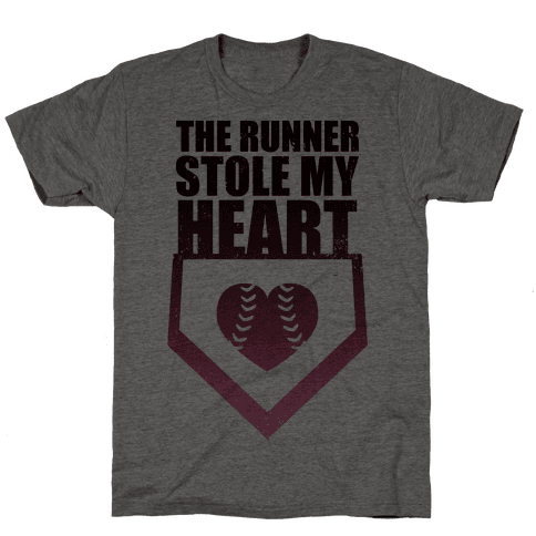 The Runner Stole My Heart (Baseball Tee) Mens T-Shirt