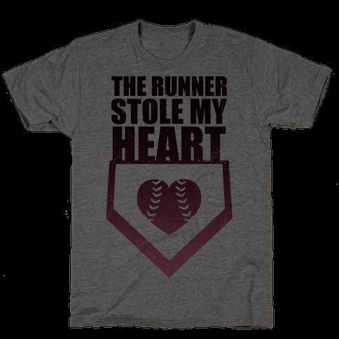 The Runner Stole My Heart (Baseball Tee) Mens T-Shirt