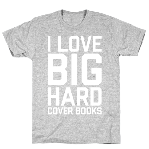 I Love Big Hardcover Books Mens T-Shirt