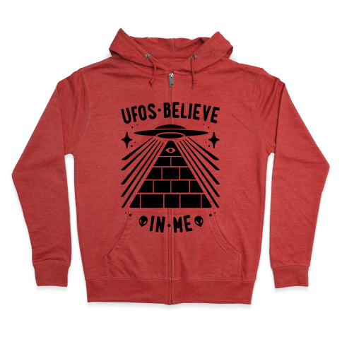 UFOS Believe In Me Zip Hoodie