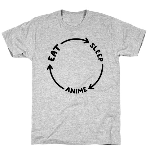 Eat Sleep Anime Repeat T-Shirt