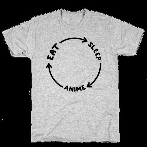 Eat Sleep Anime Repeat Mens T-Shirt