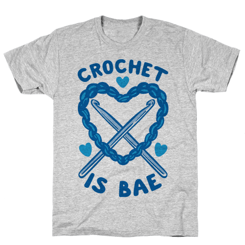 Crochet Is Bae Mens T-Shirt