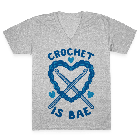 Crochet Is Bae V-Neck Tee Shirt