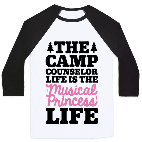 Camping Princess Baseball Tee