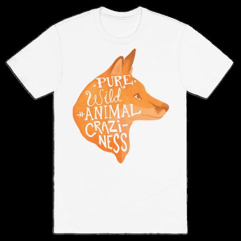 Pure Wild Animal Craziness Mens T-Shirt