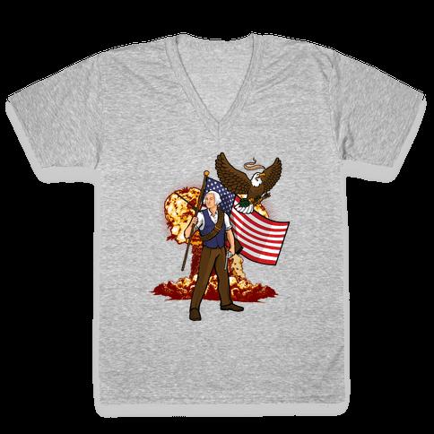 The Immortal George Washington V-Neck Tee Shirt