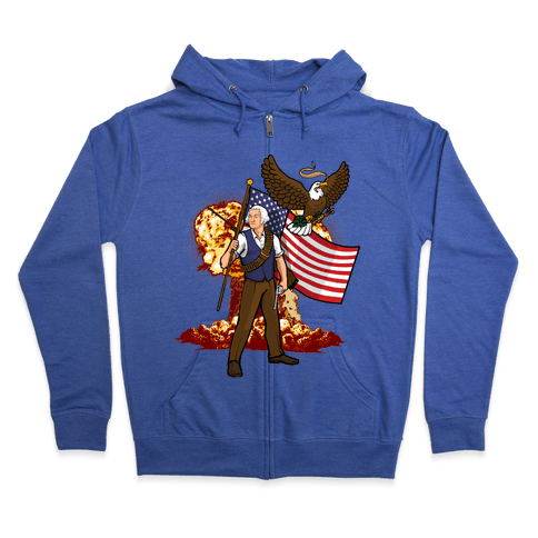 The Immortal George Washington Zip Hoodie