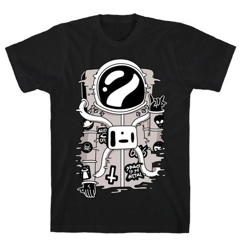 Space Is So Metal Mens T-Shirt