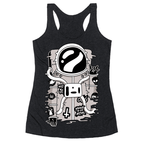 Space Is So Metal Racerback Tank Top