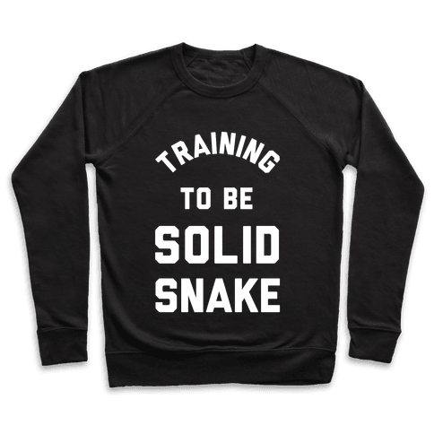 Training To Be Solid Snake Pullover