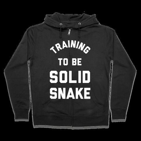 Training To Be Solid Snake Zip Hoodie
